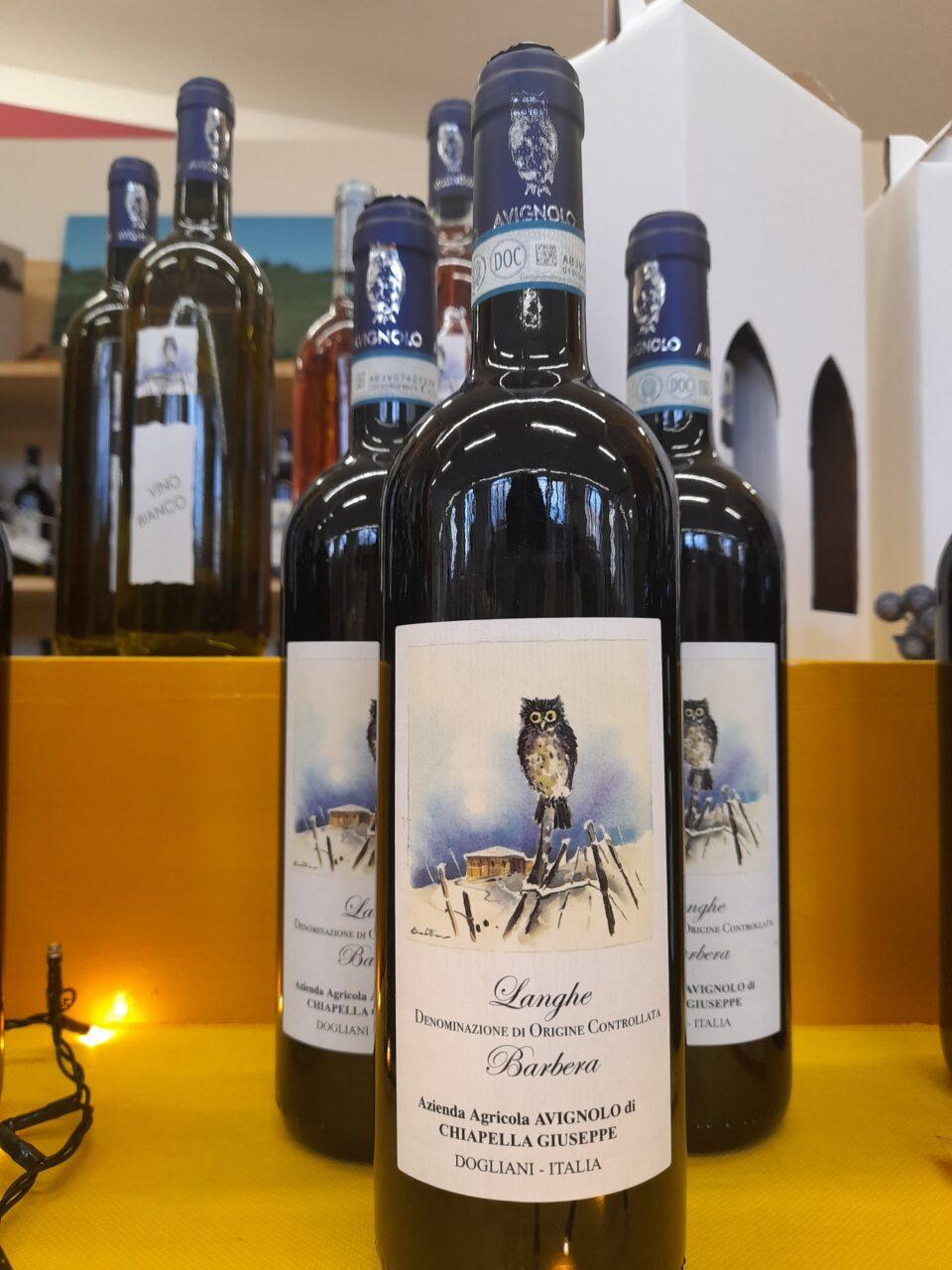 bottiglie di Langhe DOC Barbera