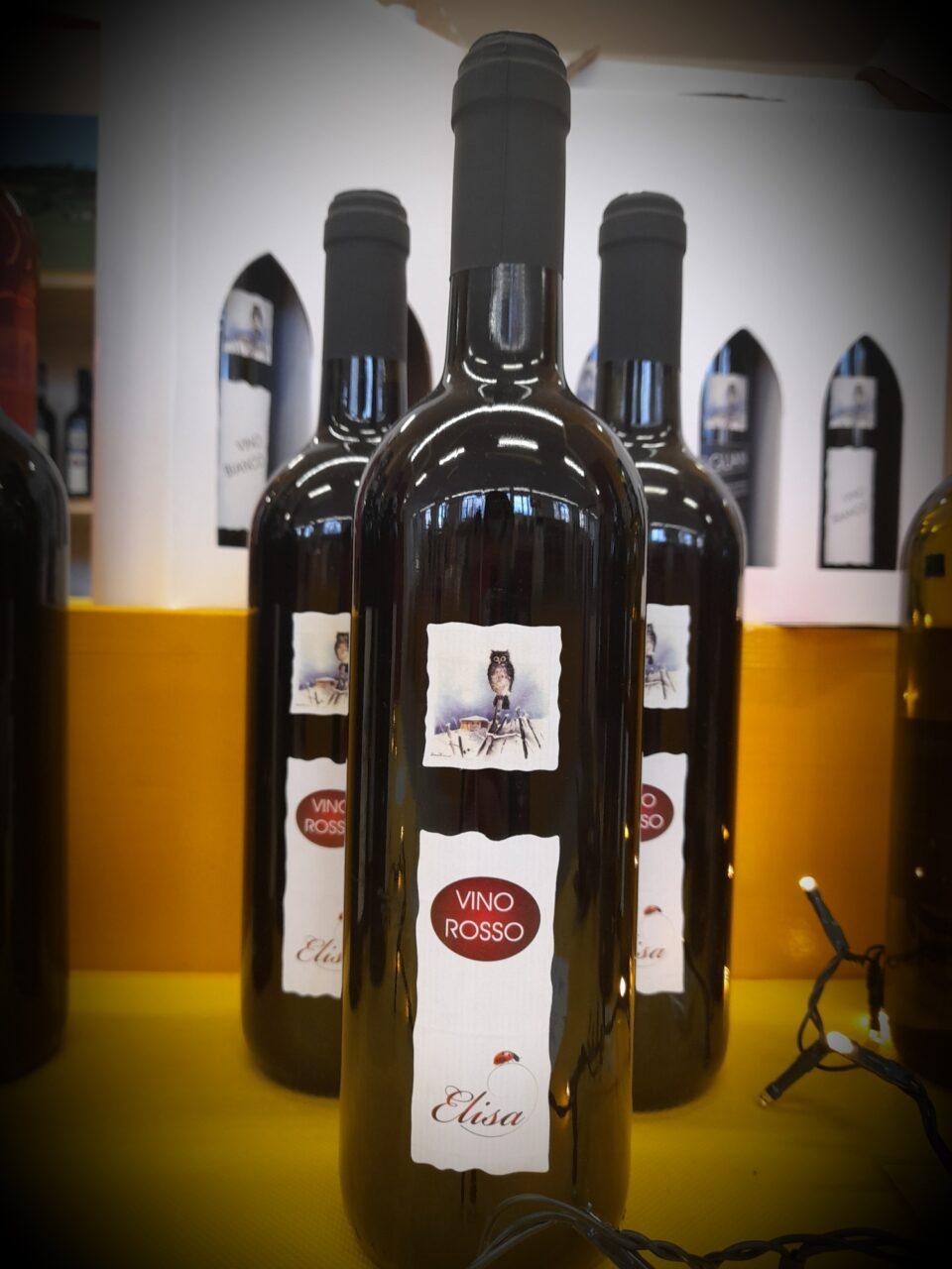 bottiglie di Vino rosso Elisa