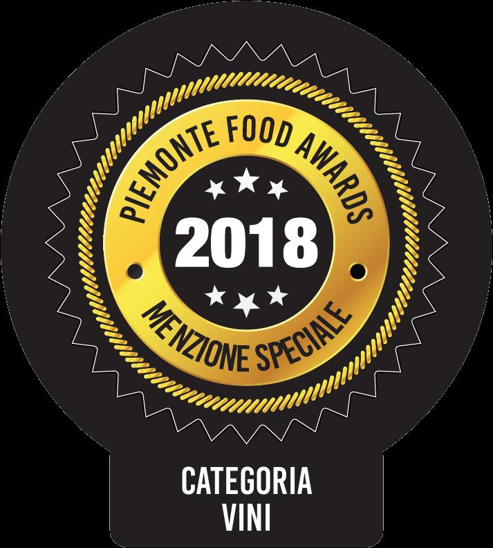 bollino Piemonte Food Awards 2018 menzione speciale categoria vini